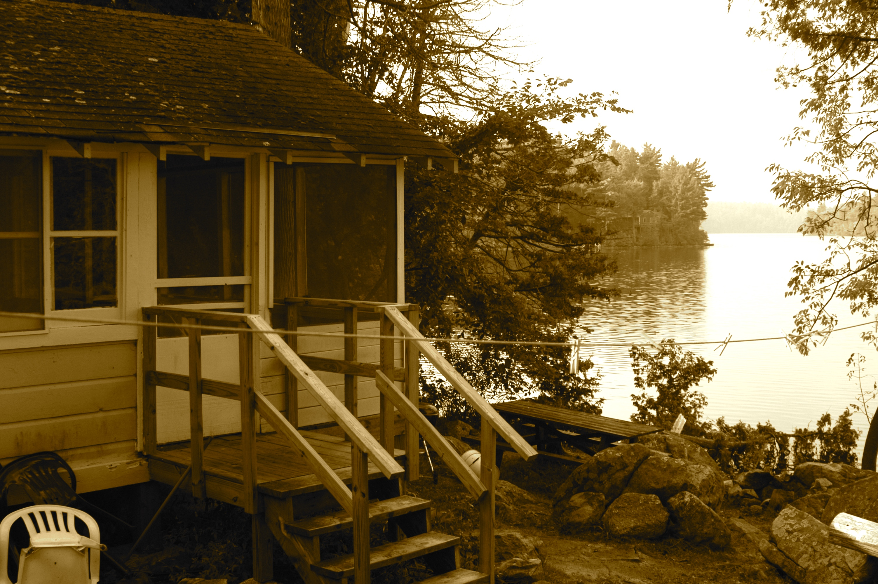 cottages lakefront maine on in sale cottage youtube for lake watch scenic saponac sold